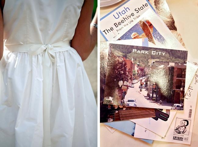 brochures and dress | Park City Wedding via http://MountainsideBride.com
