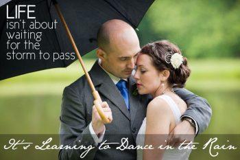 advice for rainy day weddings