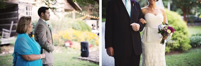 ceremony  rustic chic wedding via https://mountainsidebride.com