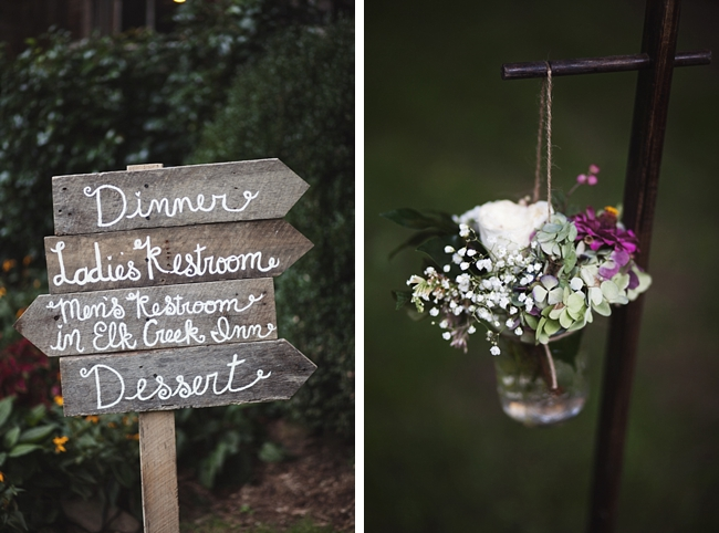 wooden wedding signs rustic chic wedding via https://mountainsidebride.com