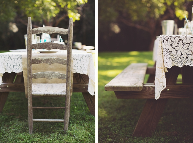 picnic tables rustic chic wedding via https://mountainsidebride.com