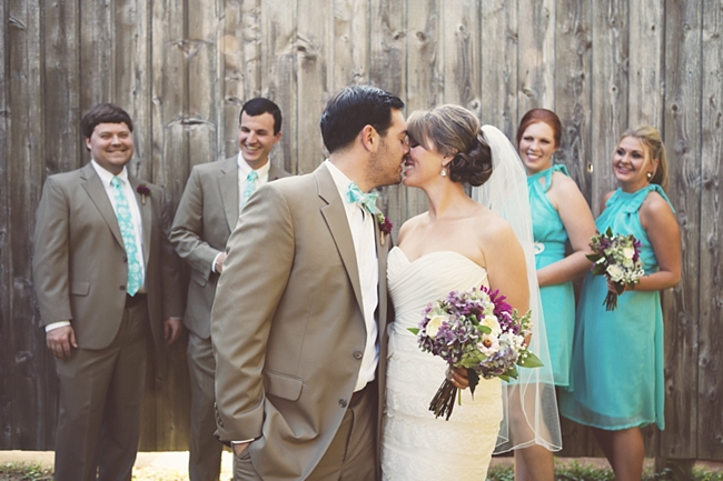 bridal party rustic chic wedding via https://mountainsidebride.com