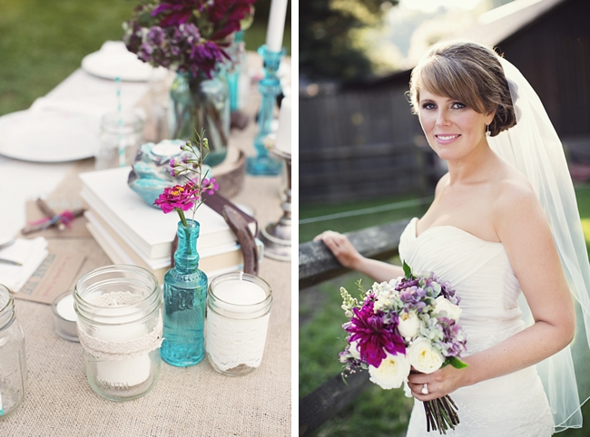 bride and table rustic chic wedding via https://mountainsidebride.com