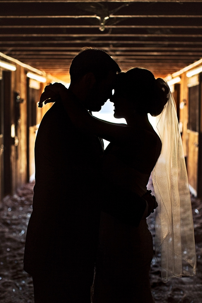 bride and groom silhouette rustic chic wedding via https://mountainsidebride.com
