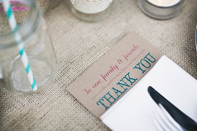 Thank you card rustic chic wedding via https://mountainsidebride.com