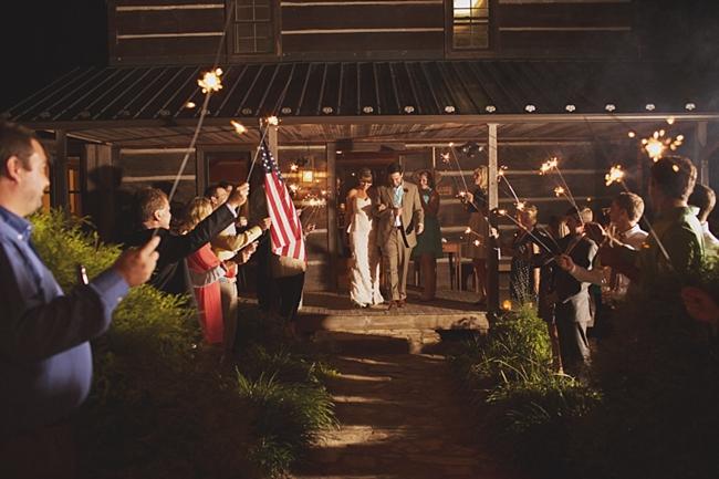exit rustic chic wedding via https://mountainsidebride.com