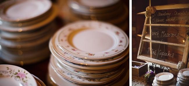 vintage cake plates rustic chic wedding via https://mountainsidebride.com