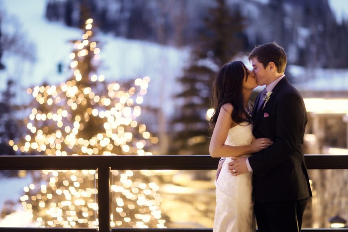 winter wedding in park city