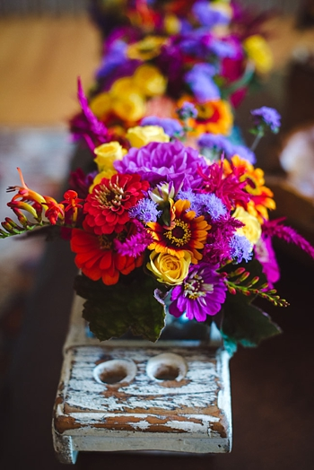 colorful bouquet via https://mountainsidebride.com