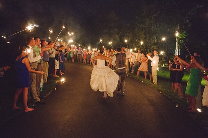 southern mountain farewell with sparklers via https://mountainsidebride.com