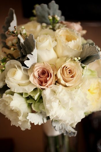 romantic bouquet Park City Wedding