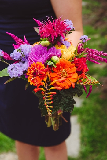 colorful bridesmaid bouquet via https://mountainsidebride.com