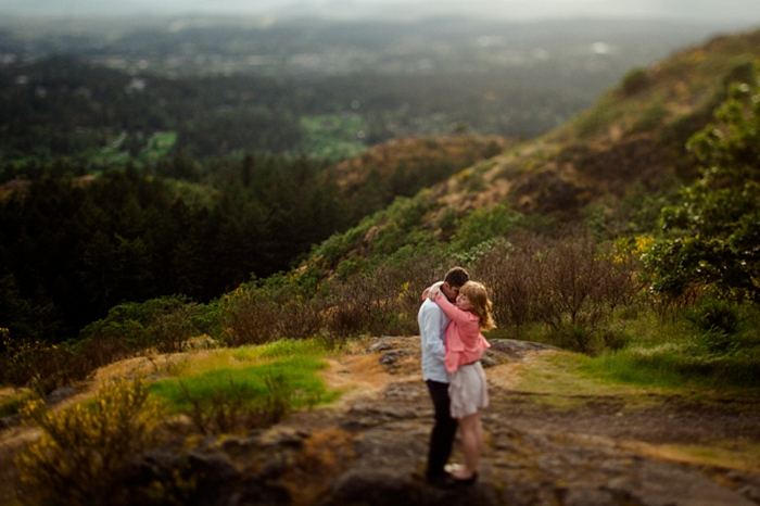 Mount Douglas Engagement via https://mountainsidebride.com