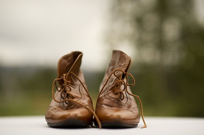 brown leather boots | casual winter park wedding