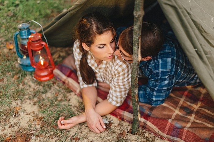 Vintage Camp Engagement Shoot