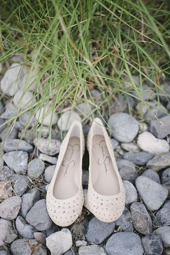 white lace wedding flats - Mount Rose Wedding