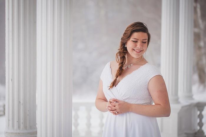 Blowing Rock North Carolina Winter Bridal Portraits