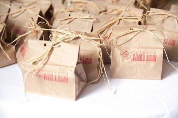 rustic stamped favor bags | Colorado Wedding
