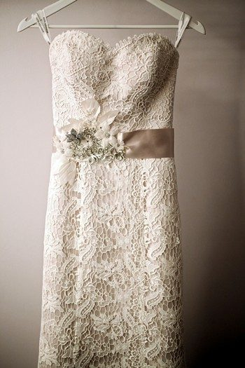 Lovely lace wedding dress