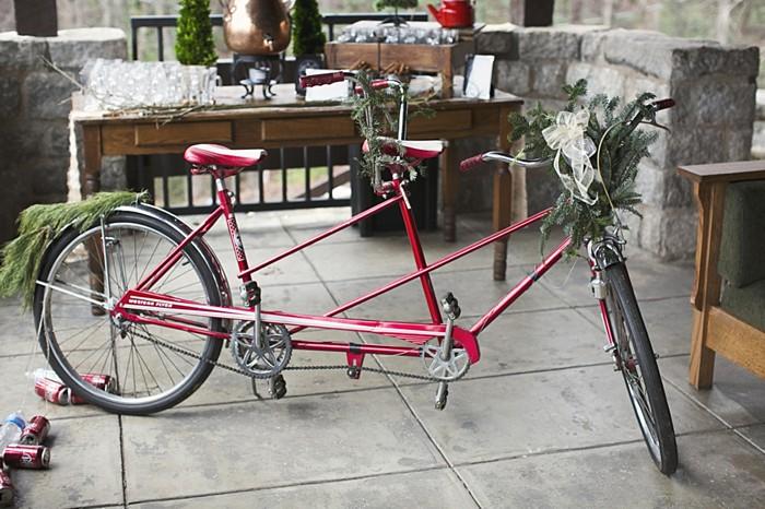 red vintage bike
