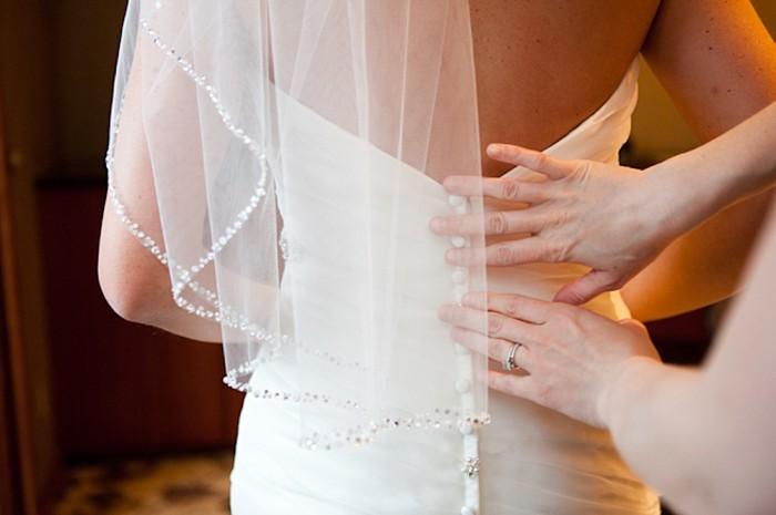 Button up wedding dress back
