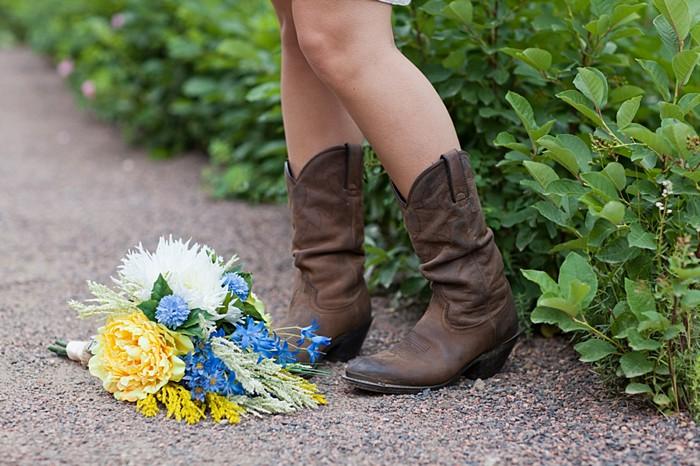 Estes Park Elopement cowboy boots