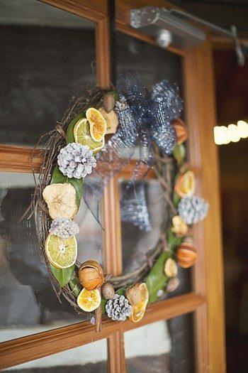 modern citrus wreath