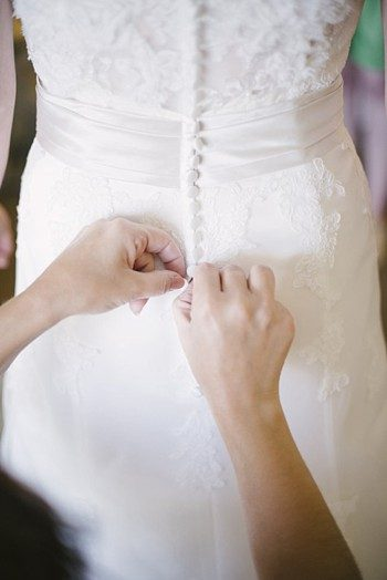 button back wedding gown - Mount Rose Wedding