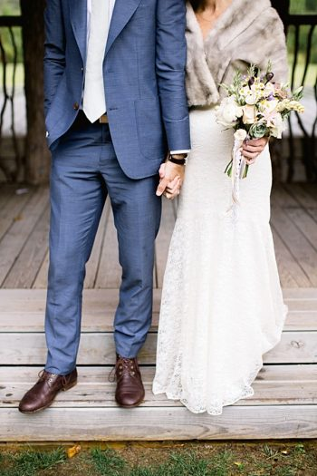 bride and groom attire