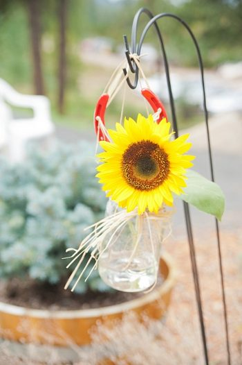 sunflower ceremony flowers | Colorado Wedding