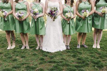 green bridesmaids dresses - Mount Rose Wedding