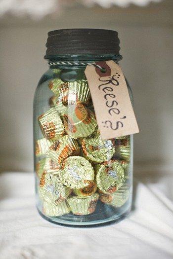 candies in vintage mason jars