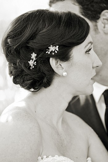 pretty up do with beaded flowers