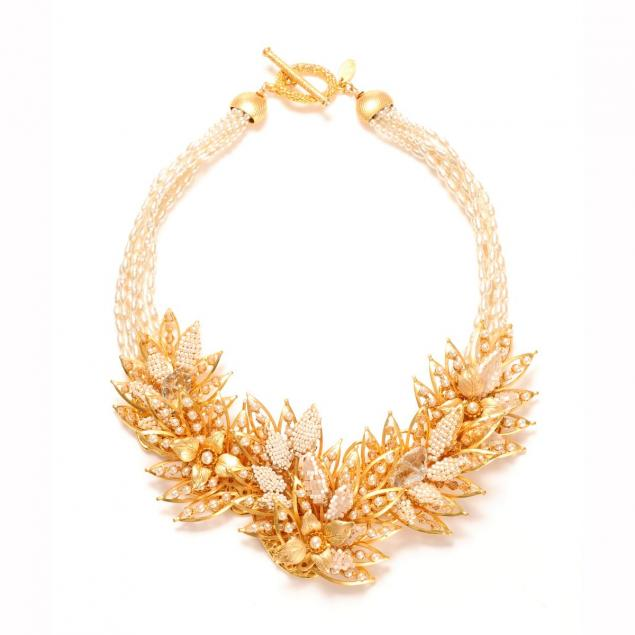 Luxe bridal statement necklace
