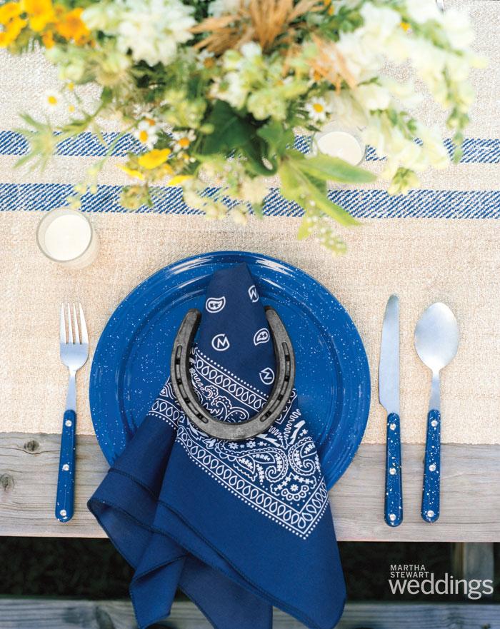 enamelware table settings