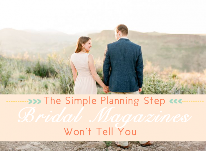 The Simple Step Bridal Magazines Won't tell you