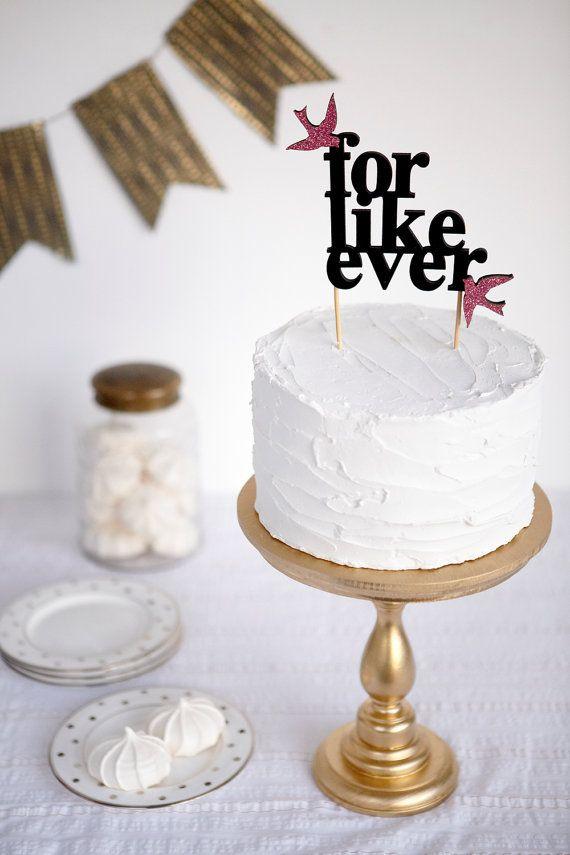 Forever Statement wedding cake topper