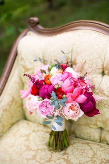 hot pink bouquet in Vermont