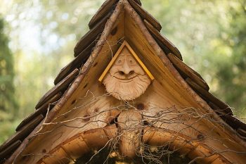 well spring spa carved bird house