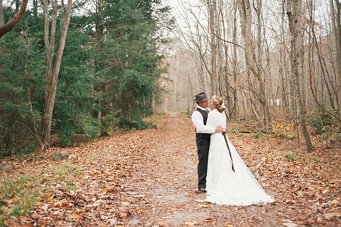 bride and groom Tennessee Vintage Mountain Wedding