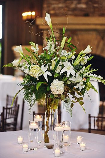 white lily centerpieces