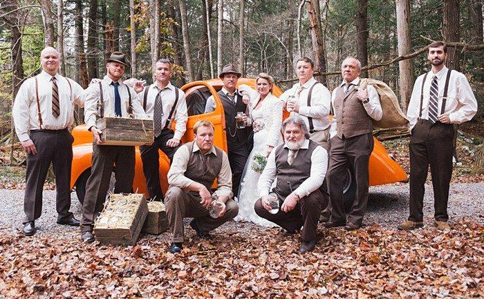 vintage car Tennessee Vintage Mountain Wedding