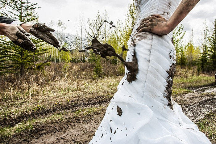 Canadian Rocky Mountain Trash the Dress | Photography by One Edition | See More at https://mountainsidebride.com/2014/02/one-edition-trash-the-dress