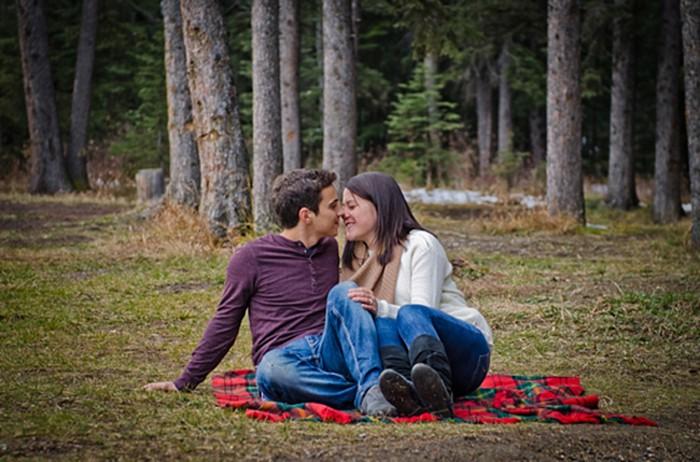 Banff camping engagement Paisley Photography