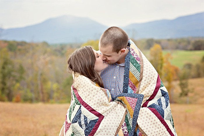 Blue Ridge Mountain Engagement Session Photography by Megan Vaughn   See More: https://mountainsidebride.com/2014/02/blue-ridge-mountain-engagement-session