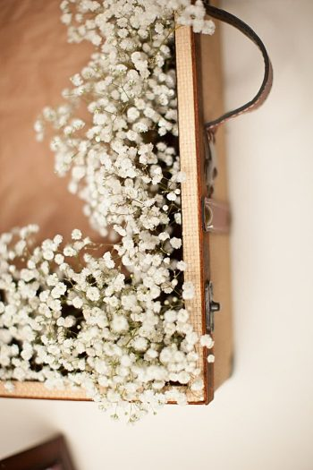 babys breath lined card box
