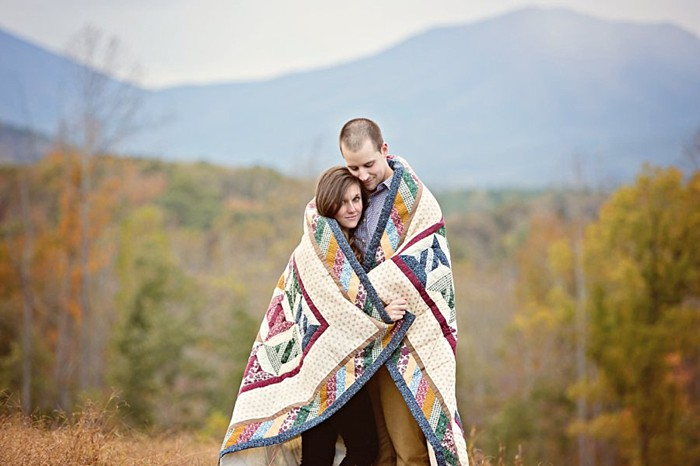 Blue Ridge Mountain Engagement Session Photography by Megan Vaughn | See More: https://mountainsidebride.com/2014/02/blue-ridge-mountain-engagement-session