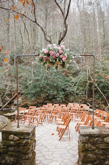 Ceremony venue Tennessee Vintage Mountain Wedding