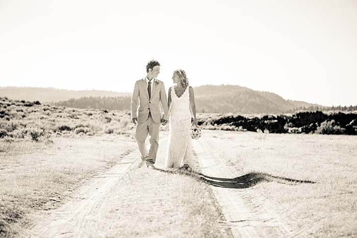 Mammoth Lakes bride and groom