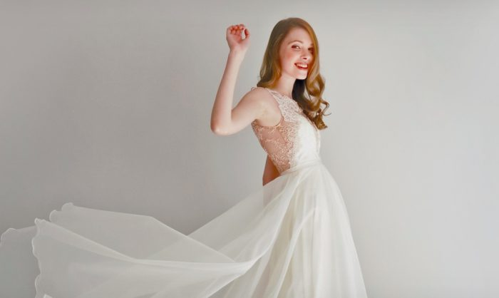 Leanne Marshal wedding gown